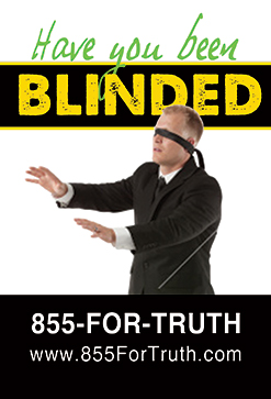 """Have you been blinded"" mall message"
