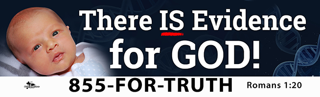 """""""There is Evidence for God!"""" billboard message"""